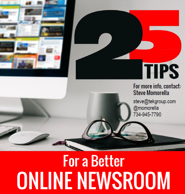 25 tips for a better Newsroom. Bevindingen gebruik Newsrooms in de VS